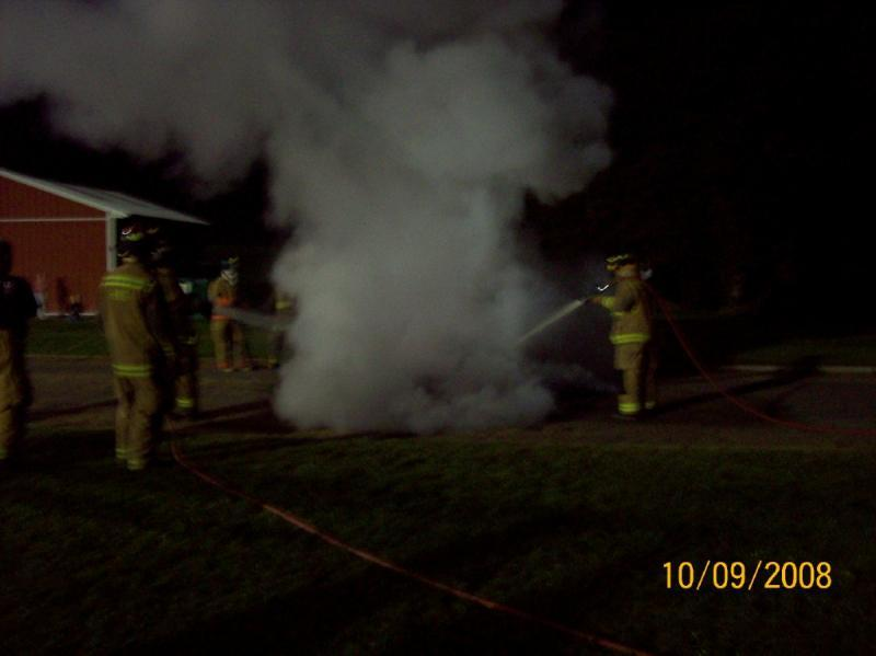 After the event the fire was extinguished by the crews on scene.