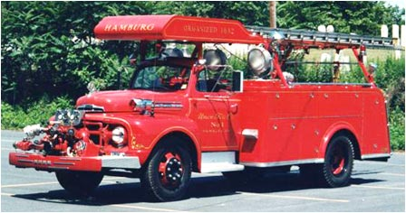 1951 Ford-Hahn pumper, with a 750 GPM pump