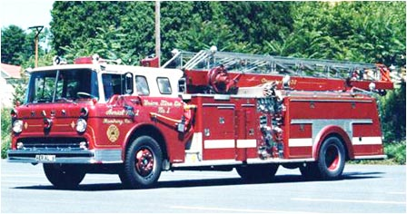 1961 Ford-Hahn aerial ladder truck